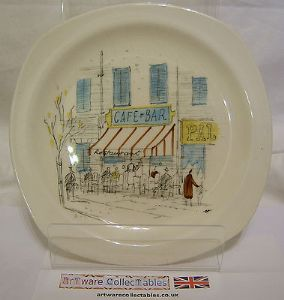 Midwinter 'Riviera' 6.25 inch Plate - 1950s - 6 available